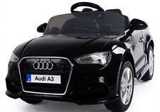 12V Radio Control Audi A3 negro azabache con licencia niños Coche para Andar Batería Motor Doble