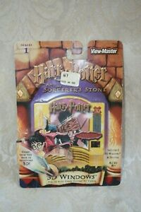 View Master HARRY POTTER 3D WINDOWS 5 card pack SORCEROR'S STONE Series 1 NEW IP