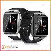 NEW 2019 Smart Watch DZ09 Phone & Camera Bluetooth Android BLACK