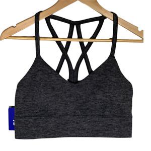 JoyLab Womens Sports Bra Size Medium Gray Active Workout Gym Exercise Athletic