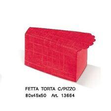 Scatola bomboniera Fetta Torta laurea seta rosso 80x45x50 mm - n 10 pz art 13664
