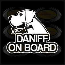 Daniff On Board Dog Car Window Sticker Decal Mastiff Mix Dog Love Gladiator Dane