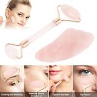 Masseur naturel visage massage beauté rouleau de quartz de rose