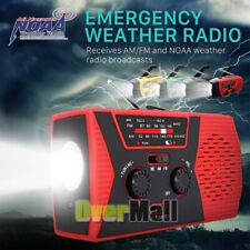 Emergency Solar Weather Am/Fm Radio Sos Searchlight Handheld Spotlight Flashligh