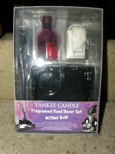 YANKEE CANDLE HALLOWEEN WITCHES BREW FRAGRANCED REED DECOR SET BRAND NEW IN BOX