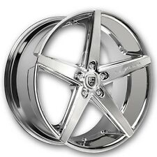 "20"" Staggered Lexani Wheels R-Four Chrome Rims and Tires Package"