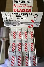 Barber King Barber shop Razor Blades & Cutter Vintage Store Display