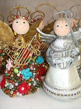 Adorable Angel Christmas Ornaments (Lot of 11) Hand Decorated Music Instruments