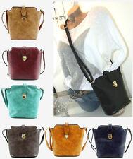 ♥NEU♥ Damen Tasche Schultertasche CROSSBODY BAG Umhängetasche Imitat Leder