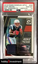 2018 Optic Sony Michel #SM Rookie Phenom Relics - Vertical PSA 10 RC !  (H2i)