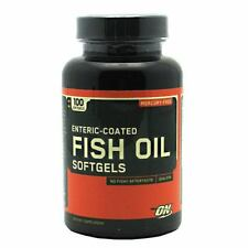 Optimum Nutrition Fish Oil 100softgels Enteric Coated Mercury Free DHA EPA New