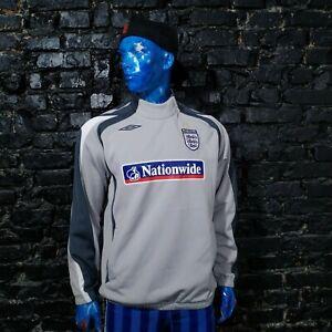 England Team Training jacket Long Sleeve Gray Umbro Polyester Mens Size L