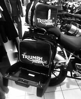 Pannier liner bags inner bags for TRIUMPH TIGER 800/800XC white Print