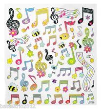Sticker Geburtstag Musik Music Noten Notenschlüssel Einladung Scapbooking