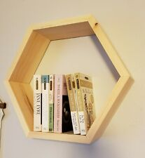 Custom Floating Hexagon Shelves