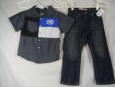 ECKO unltd Button Down Shirt & Levi's 511 slim Jeans 4T NWT
