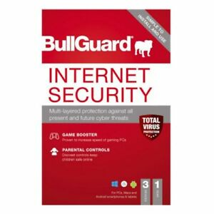 Bullguard Internet Security 2021 Retail 10 Pack - 10 X 3 User Licences - 1 Year