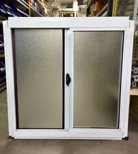 Aluminium Sliding Window with Flyscreen 600 x 610, White/Black/Primrose/Grey