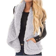 Women Winter Faux Fur Ladies Sleeveless Vest Waistcoat Jacket Gilet Coat Outwear