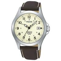 Reloj Pulsar by seiko Gents Mens Kinetic Leather Strap Sports Watch