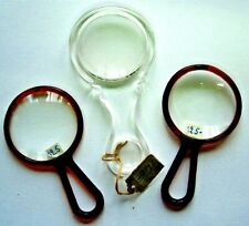 Lot 3 loupe collector de poche bureau MAGNIFYING GLASS optical 2