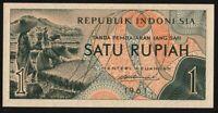 1961 Indonesia 1 rupiah P-78 crisp uncirculated banknote