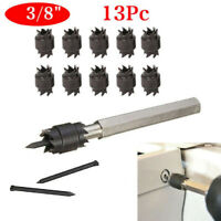 13Pcs Double Sided Spot Weld Cutter Set 3/8inch HSS Drill Bit For Spot Welding
