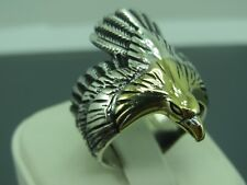 Turkish Handmade Jewelry 925 Sterling Silver Eagle Design Men Ring Sz 10
