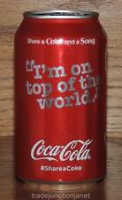 "NM 2016 USA LE #SHARE A COKE AND A SONG ""I'M ON TOP OF THE WORLD"" EMPTY 12oz CAN"