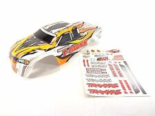 NEW TRAXXAS T-MAXX 2.5 4910 PAINTED GREY WHITE BODY SHELL WITH DECAL SHEET .15