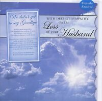 DEEPEST SYMPATHY ON THE LOSS OF YOUR HUSBAND SYMPATHY CARD WITH KEEPSAKE