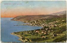 1927 Sanremo panorama veduta generale mare costa case Badalucco FP COL VG
