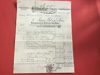 James Wilson and Sons 1882 Brass Founders  Illustrated   receipt R33057