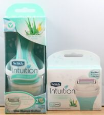 NEW Schick Intuition Naturals Aloe Sensitive Care 1 Razor Handle + 5 Cartridges