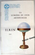 Ancien Catalogue Lampe Art Deco Bauhaus ILRIN ad advertising Kataloge lamp 1930