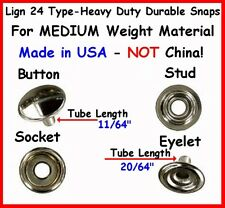 10 Sets Quality! Medium Weight Nickel ~ Leather & Canvas Snap Fastner No Tools