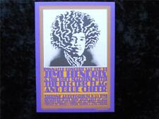 Jimi Hendrix Shrine Show Feb.10,1968 5X7 Postcard 3rdPrint Artist J.A Hemersveld