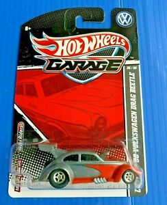 2010 Hot Wheels ZAMAC Garage '56 Volkswagen Drag Beetle FREE Protector RARE