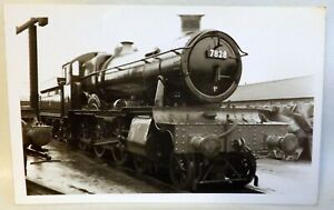 Steam Train 7828, Odney Manor, 84G at Swindon Works. Real Photo