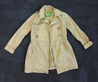 Free People Anthropologie Womens Trench Coat Beige Size UK 14 L Double Breasted