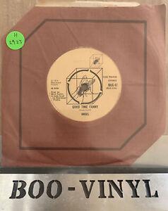"Angel - Good Time Fanny Rare 7"" Vinyl Record Glam BUG 41 Ex / Vg+ Con"