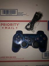 Rare Clear Blue Dualshock3 Wireless SixAxis Control Pad PS3 Bluetooth For Sony