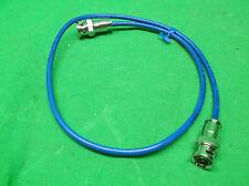 "HOLLAND ELECTRONICS 07-20-1794 BNC-BNC MINI COAX CABLE BLUE - 24"" - NEW IN BAG"