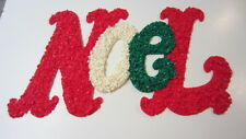 Melted Popcorn NOEL Christmas Wall / Window Decoration, 21 in. x 12 1/2 in.