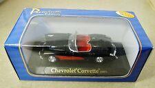 American Mint 1957 Chevrolet Corvette 1:43 Scale Diecast Black Red 3043603
