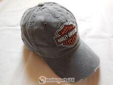 Harley Davidson Frayed B&S Logo Baseball Cap Kappe grau 99412-16VM