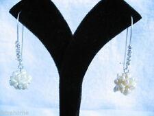Freshwater Hoop Natural Fine Pearl Earrings