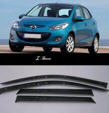 Side Window Visors Sun Guard Vent Deflectors for Mazda 2 II Hb 2008-2014