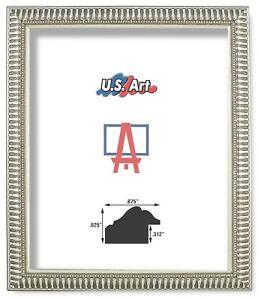 "US Art Frames .875"" Ornate Silver Polystyrene Polystyrene Picture Frame S-Lots"