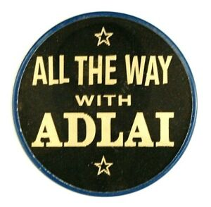 1952 ADLAI STEVENSON VARI-VUE FLASHER campaign pin pinback button political